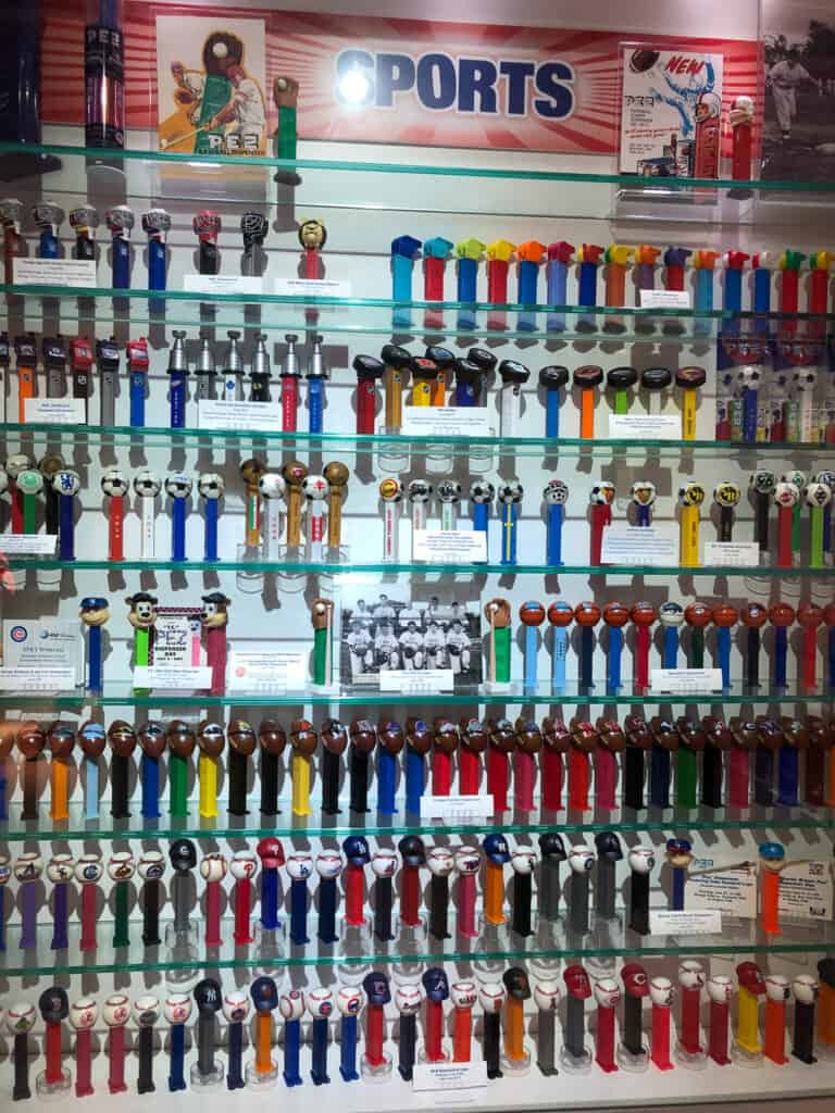 PEZ Dispensers in the category of sports at the PEZ Visitor Center